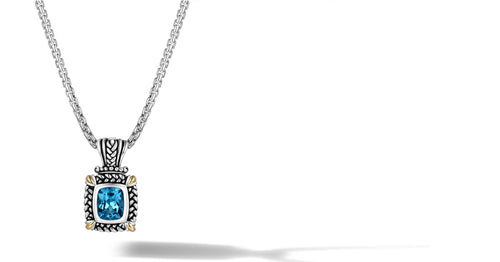 NIRVANA NECKLACE BLUE TOPAZ - Gir Collection