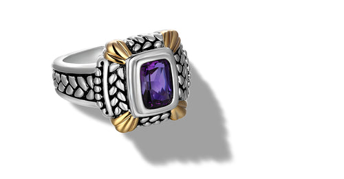 NIRVANA RING AMETHYST - Gir Collection