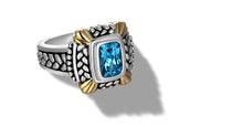 Load image into Gallery viewer, NIRVANA RING BLUE TOPAZ - Gir Collection