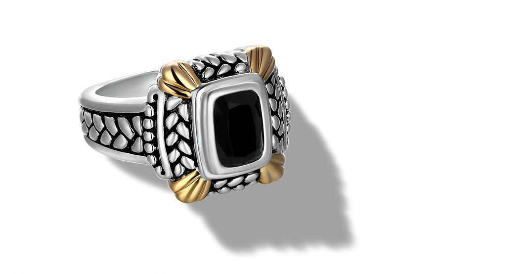 NIRVANA RING ONYX - Gir Collection
