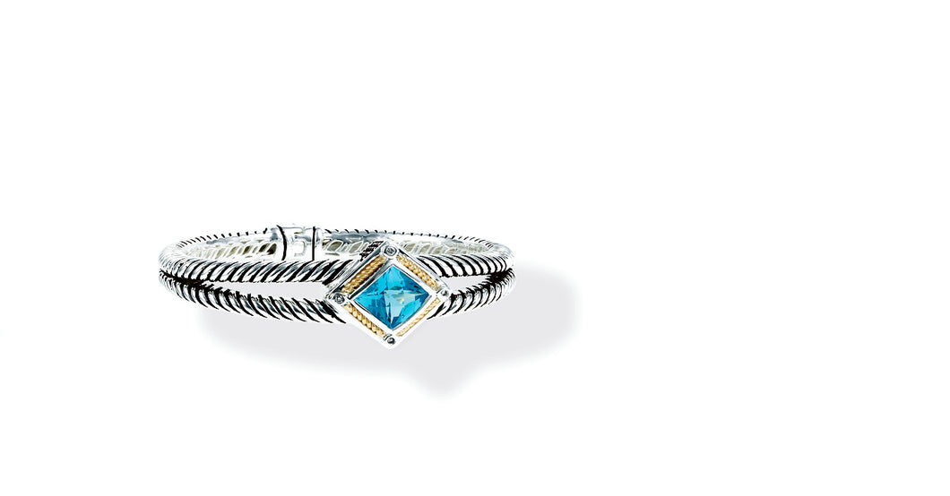NISHA BRACELET BLUE TOPAZ - Gir Collection