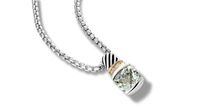 RUTA NECKLACE PRASIOLITE - Gir Collection