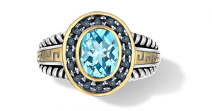 ZIKARA RING BLUE TOPAZ - Gir Collection