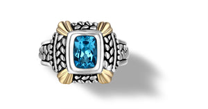 NIRVANA RING BLUE TOPAZ - Gir Collection