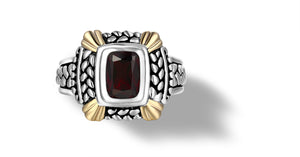 NIRVANA RING GARNET - Gir Collection