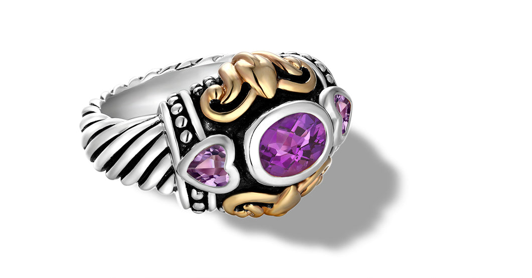 JANKI  RING AMETHYST - Gir Collection