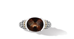 MAYA RING SMOKEY TOPAZ - Gir Collection