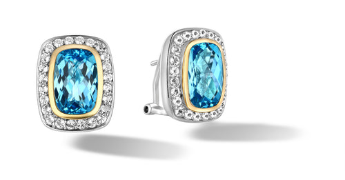 RAINA EARRINGS BLUE TOPAZ - Gir Collection
