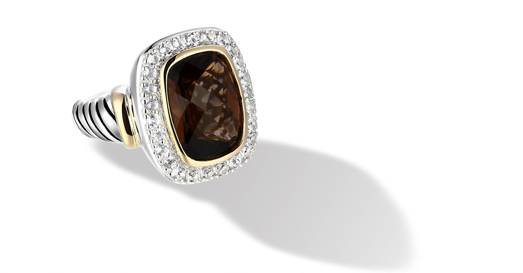 RAINA RING SMOKEY TOPAZ - Gir Collection