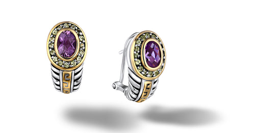 ZIKARA EARRINGS AMETHYST - Gir Collection