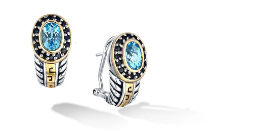 ZIKARA EARRINGS BLUE TOPAZ - Gir Collection