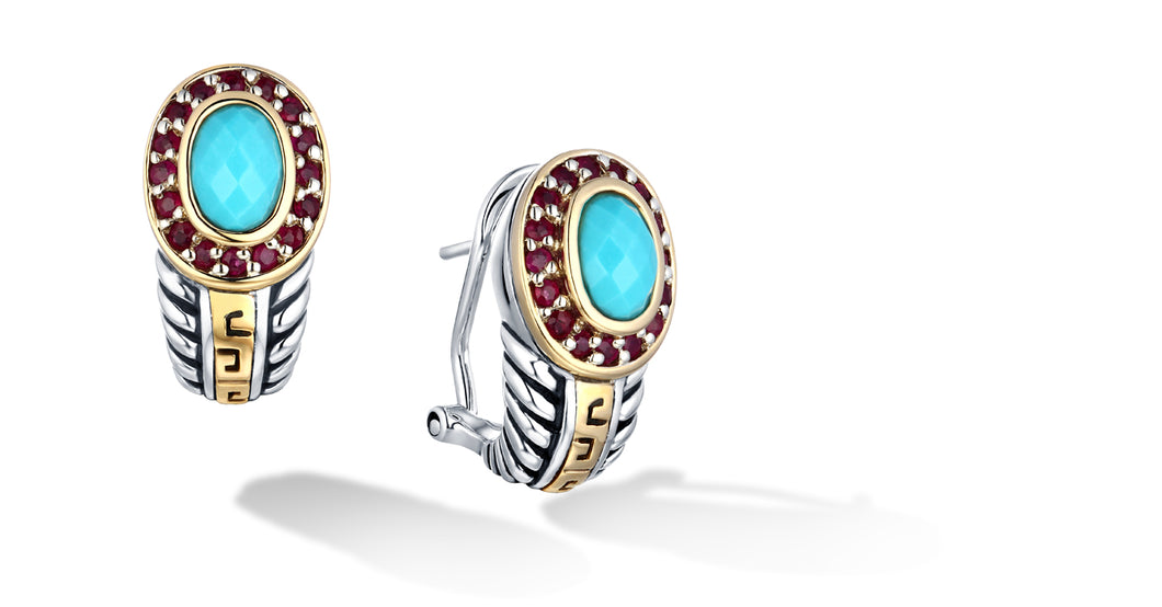 ZIKARA EARRINGS TURQUOISE - Gir Collection