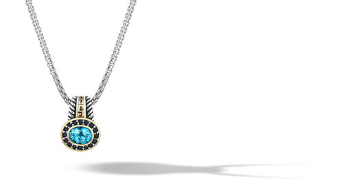 ZIKARA NECKLACE BLUE TOPAZ - Gir Collection