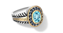 Load image into Gallery viewer, ZIKARA RING BLUE TOPAZ - Gir Collection