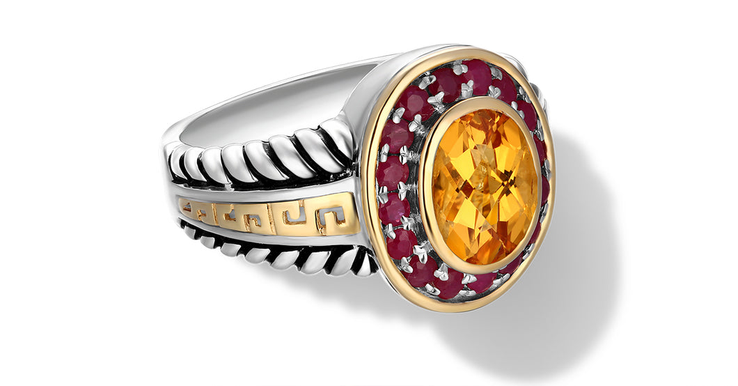 ZIKARA RING CITRINE - Gir Collection