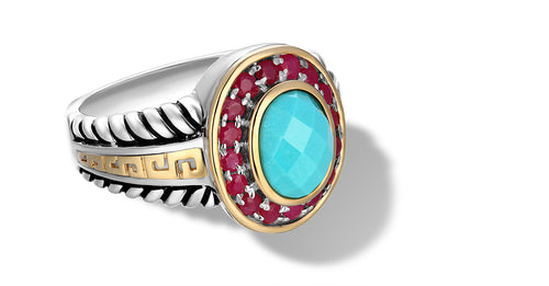 ZIKARA RING TURQUOISE - Gir Collection