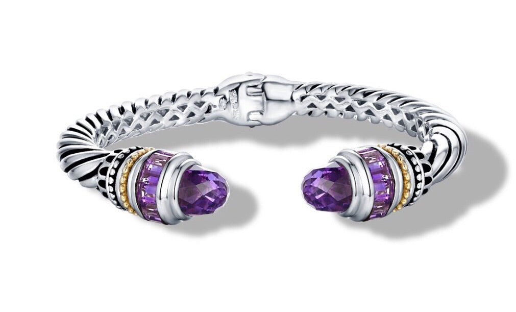 MAYA BRACELET AMETHYST - Gir Collection