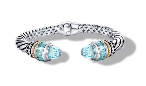 MAYA BRACELET BLUE TOPAZ - Gir Collection