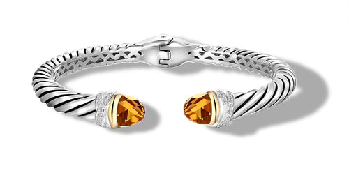 CROSSOVER BRACELET CITRINE - Gir Collection