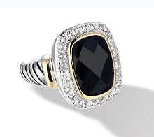 Load image into Gallery viewer, Raina Ring with Black Onyx in Silver and 14K Gold