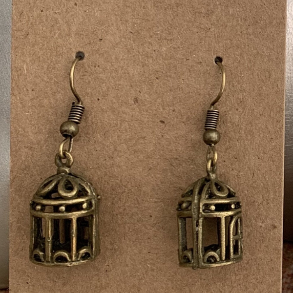 Birdcage earrings