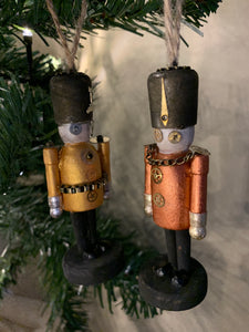 Wooden steampunk soldier Christmas tree decorations