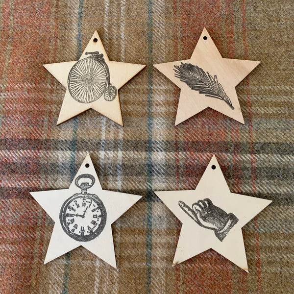 Stamped Steampunk Christmas Ornaments