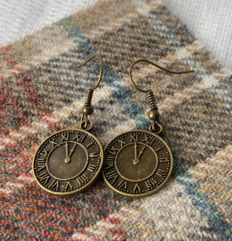 Clock earrings 2