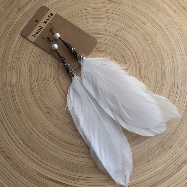 Feather earrings (long)