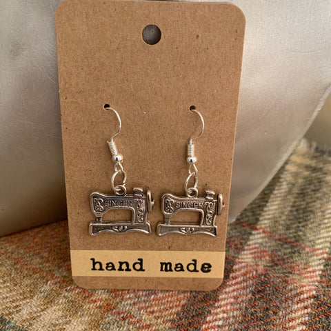 Sewing machine earrings