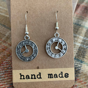 Clock earrings 3 silver
