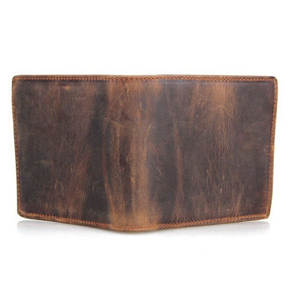 Marcus Leather Bi-Fold Wallet with Coin Zip
