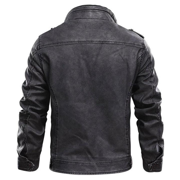 Marcus Leather Crow Biker Jacket