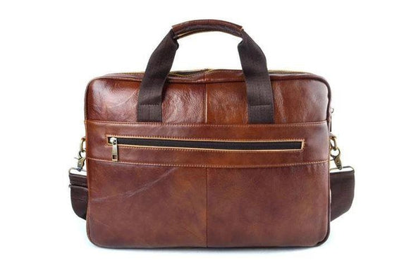 Marcus Leather Rustic Laptop Bag
