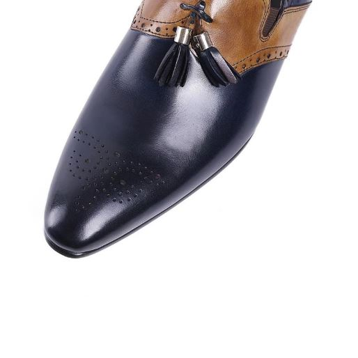 Marcus Leather Dio Tasseled Slip-on Dress Shoes