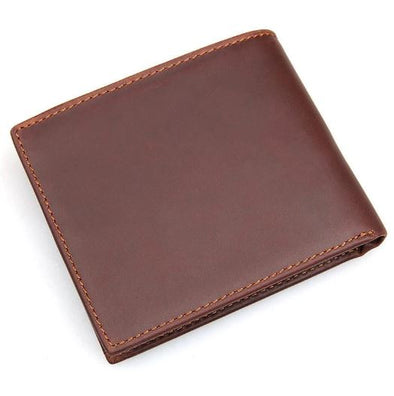 Marcus Leather Classic Short Bi-Fold Wallet