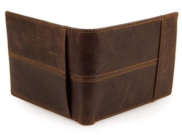 Marcus Leather Splice Bi-Fold Wallet