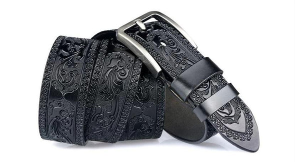 Marcus Leather Royal Ornament Belt