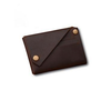 Marcus Leather Button Card Holder