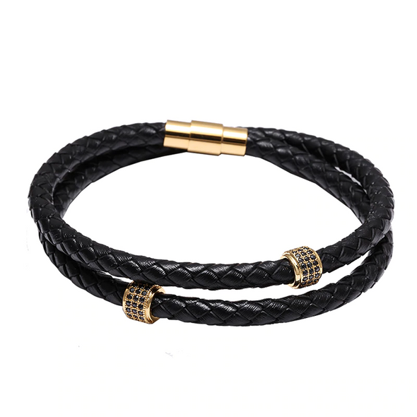 Marcus Leather Braided Leather Bracelet