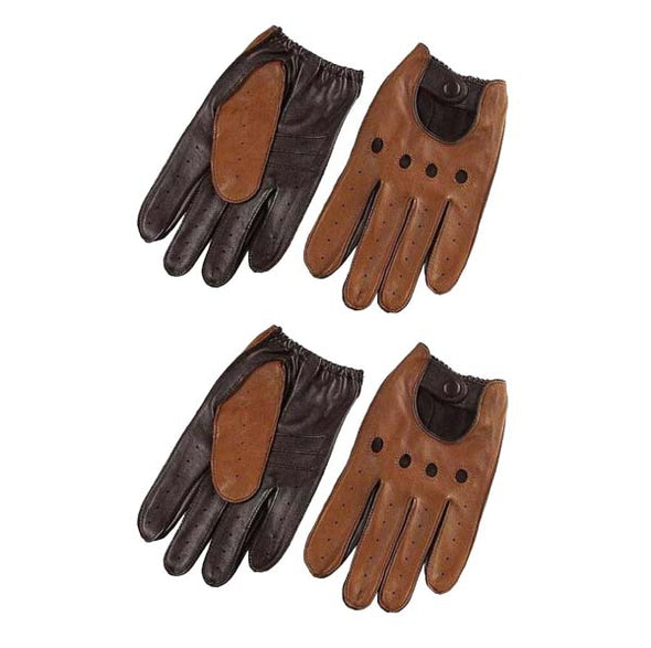 Marcus Leather Breathable Driving Gloves (2 Pairs)