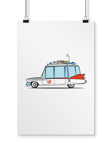 1959 caddy ghost hearse fan art poster