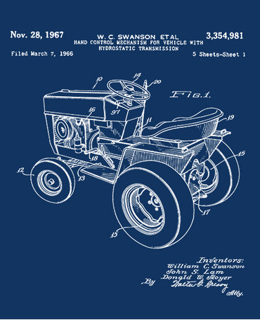 1967 patent vintage lawn mower tractor shirts car shirts