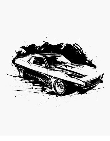1974 javelin muscle car shirt flat
