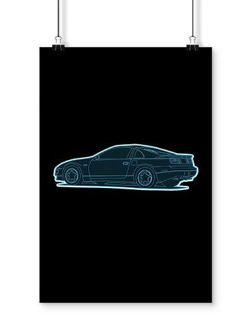 Nissan 300ZX JDM Poster