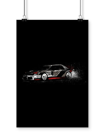 90 gto race car art poster car poster