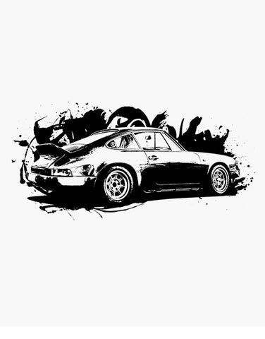turbo 911 sports car shirt flat gifts for car lovers