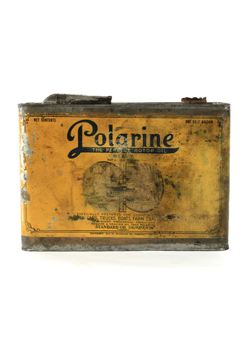 vintage oil cans polarine motor oil