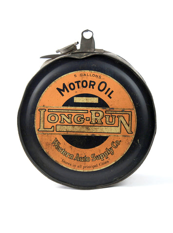 vintage oil cans long run motor oil rocker can