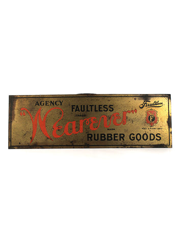 Vintage Signs Faultless Wearever Rubber